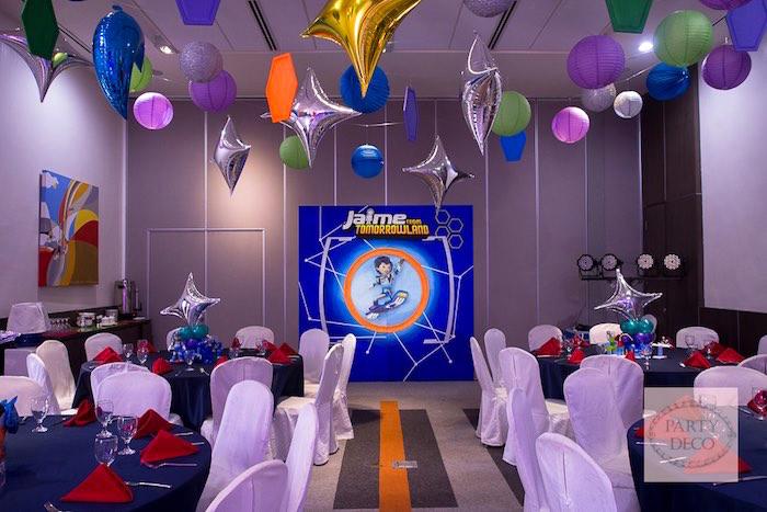 Partyscape from a Miles from Tomorrowland Birthday Party via Kara's Party Ideas KarasPartyIdeas.com (26)
