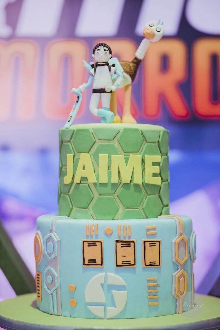 Cake from a Miles from Tomorrowland Birthday Party via Kara's Party Ideas KarasPartyIdeas.com (39)