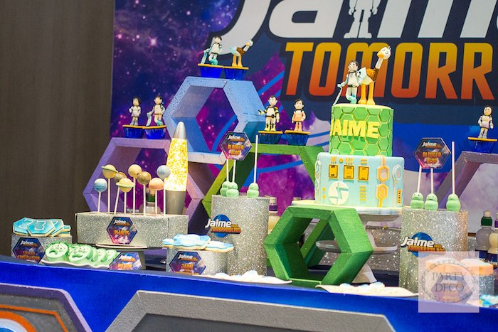 Sweet Table Details from a Miles from Tomorrowland Birthday Party via Kara's Party Ideas KarasPartyIdeas.com (17)