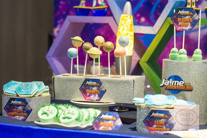 Sweets from a Miles from Tomorrowland Birthday Party via Kara's Party Ideas KarasPartyIdeas.com (16)