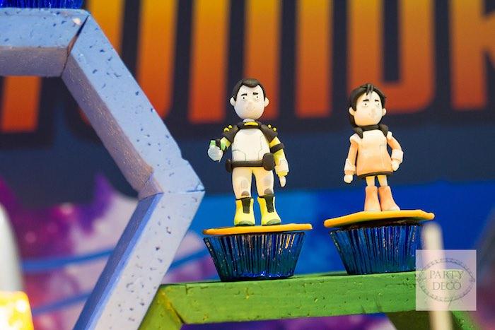 Cupcakes from a Miles from Tomorrowland Birthday Party via Kara's Party Ideas KarasPartyIdeas.com (13)