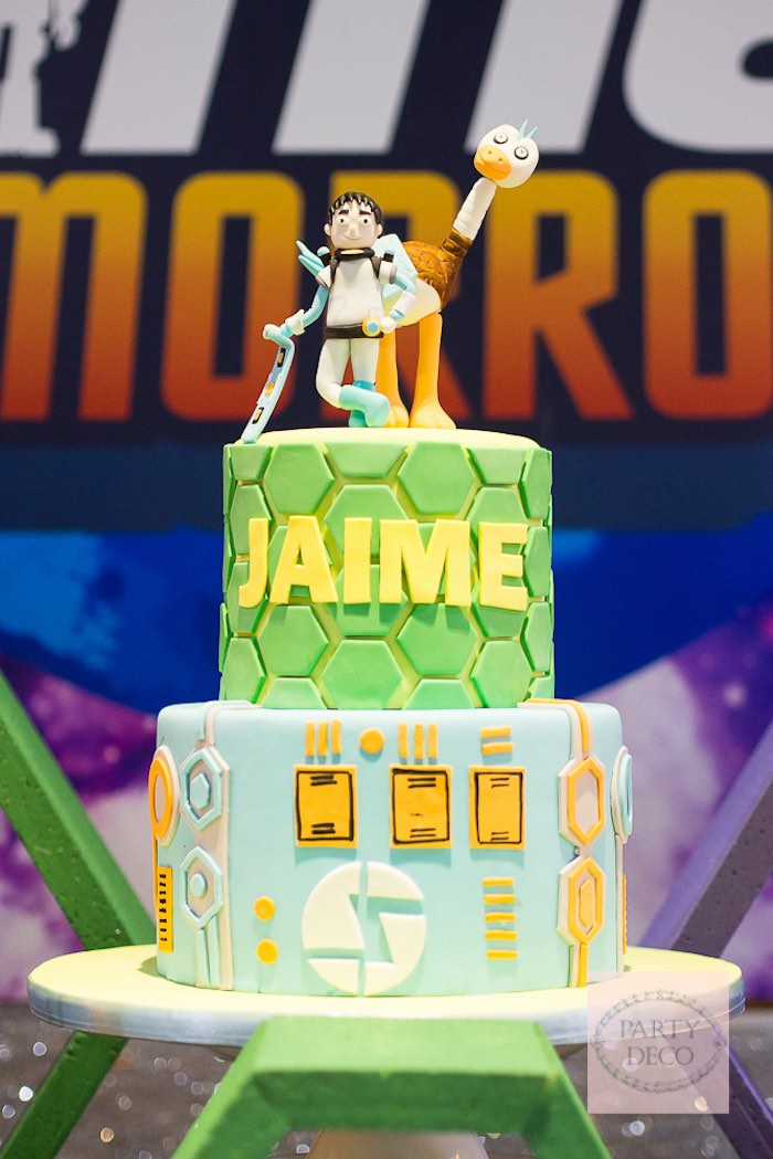 Cake from a Miles from Tomorrowland Birthday Party via Kara's Party Ideas KarasPartyIdeas.com (12)
