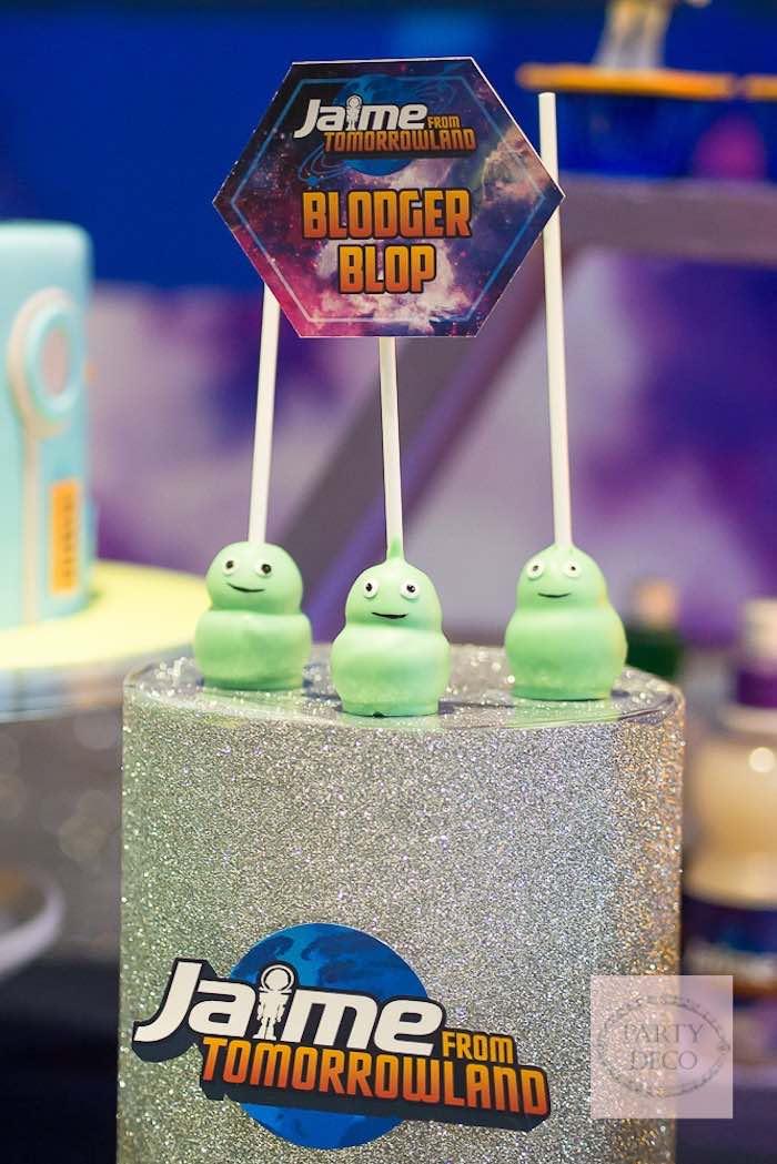 Blop Pops from a Miles from Tomorrowland Birthday Party via Kara's Party Ideas KarasPartyIdeas.com (3)