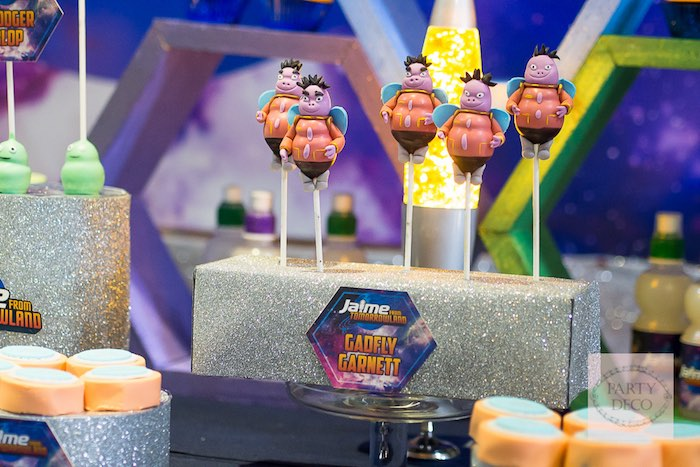 Gadfly Garnett Cake Pops from a Miles from Tomorrowland Birthday Party via Kara's Party Ideas KarasPartyIdeas.com (10)
