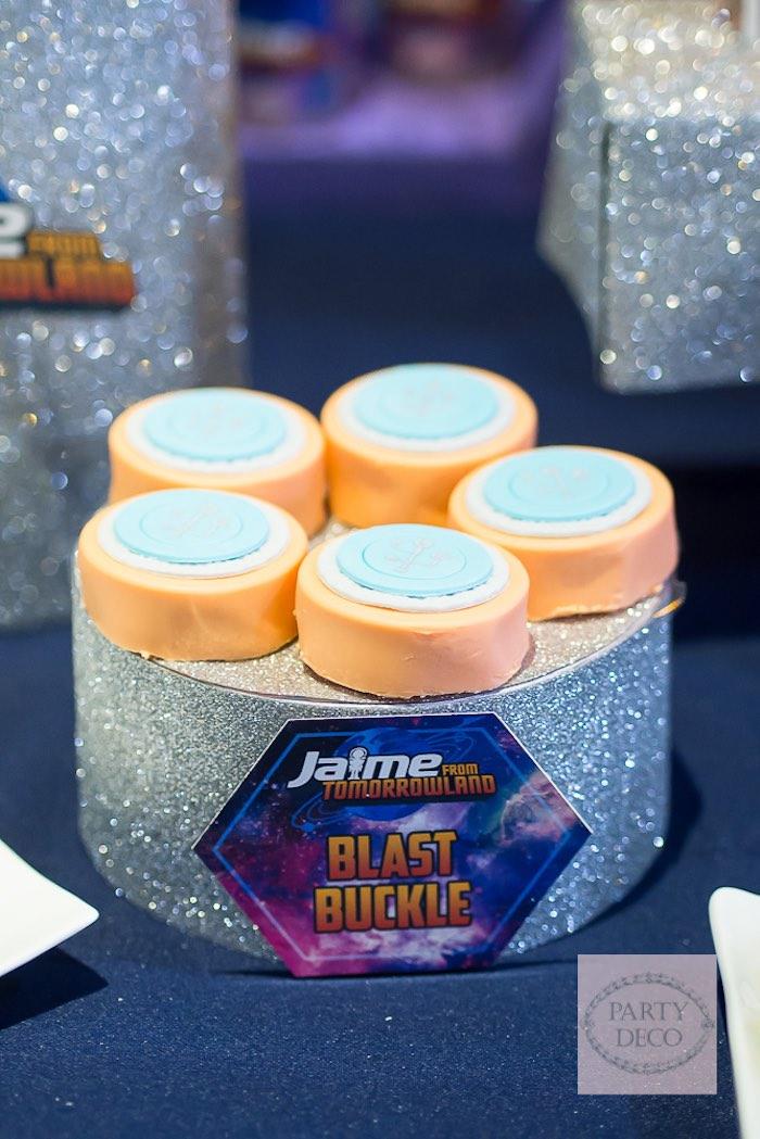 Chocolate Covered Oreos + Belt Buckles from a Miles from Tomorrowland Birthday Party via Kara's Party Ideas KarasPartyIdeas.com (9)