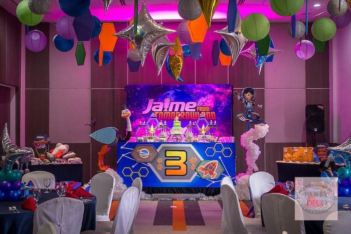 Partyscape from a Miles from Tomorrowland Birthday Party via Kara's Party Ideas KarasPartyIdeas.com (5)