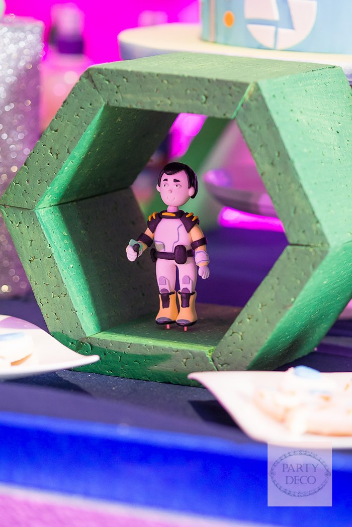 Decor from a Miles from Tomorrowland Birthday Party via Kara's Party Ideas KarasPartyIdeas.com (4)