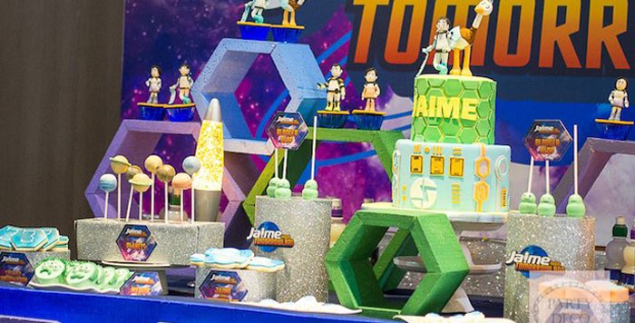Details from a Miles from Tomorrowland Birthday Party via Kara's Party Ideas KarasPartyIdeas.com (1)