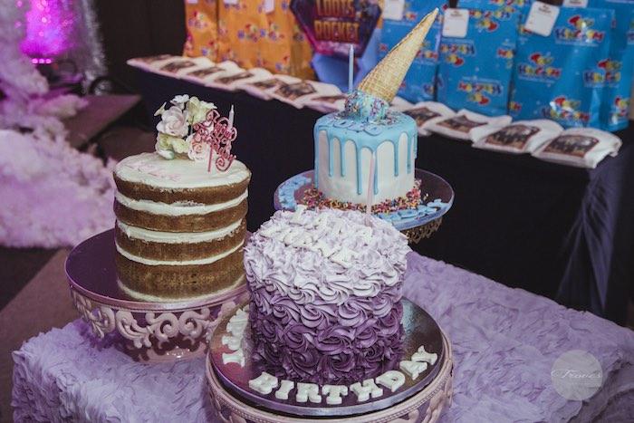 Cakes from a Miles from Tomorrowland Birthday Party via Kara's Party Ideas KarasPartyIdeas.com (33)