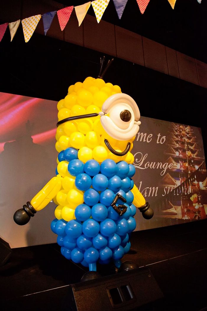 Balloon Minion from a Minions in Egypt Themed Birthday Party via Kara's Party Ideas | The Place for All Things Party! KarasPartyIdeas.com (21)