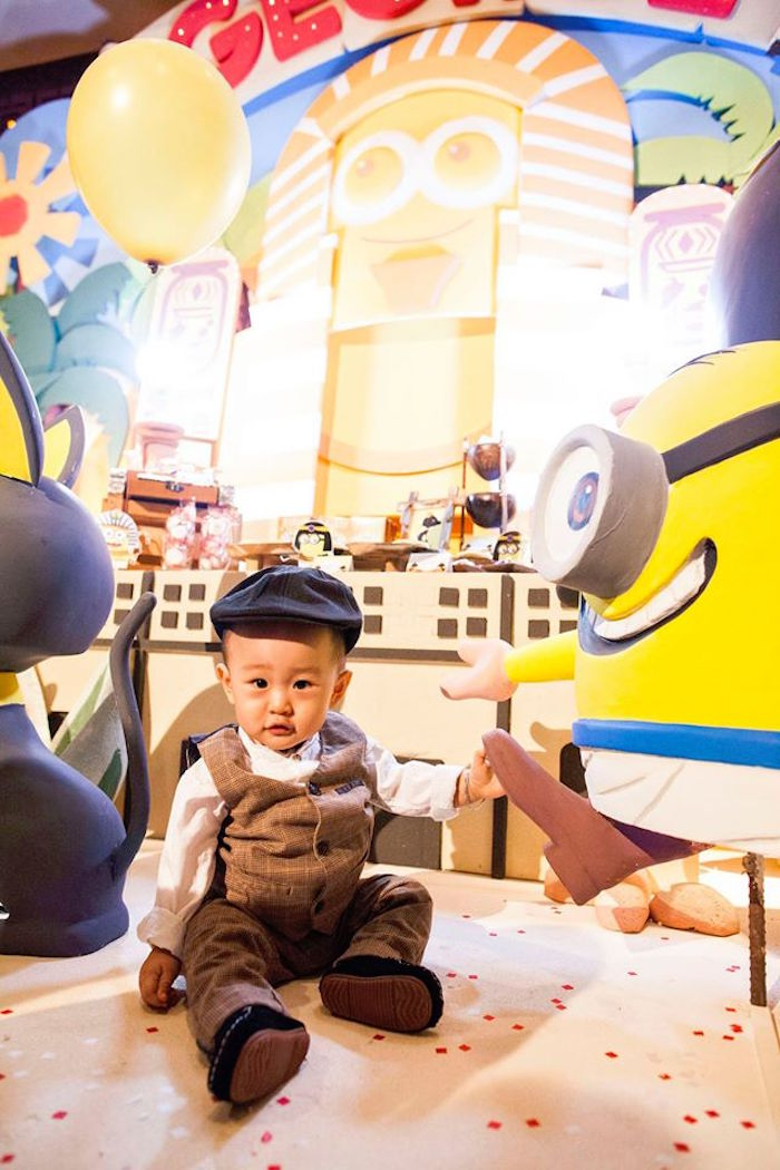 Birthday Boy from a Minions in Egypt Themed Birthday Party via Kara's Party Ideas | The Place for All Things Party! KarasPartyIdeas.com (18)