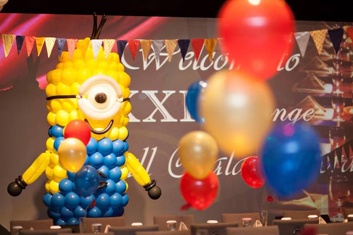 Minion Balloon Creation from a Minions in Egypt Themed Birthday Party via Kara's Party Ideas | The Place for All Things Party! KarasPartyIdeas.com (17)
