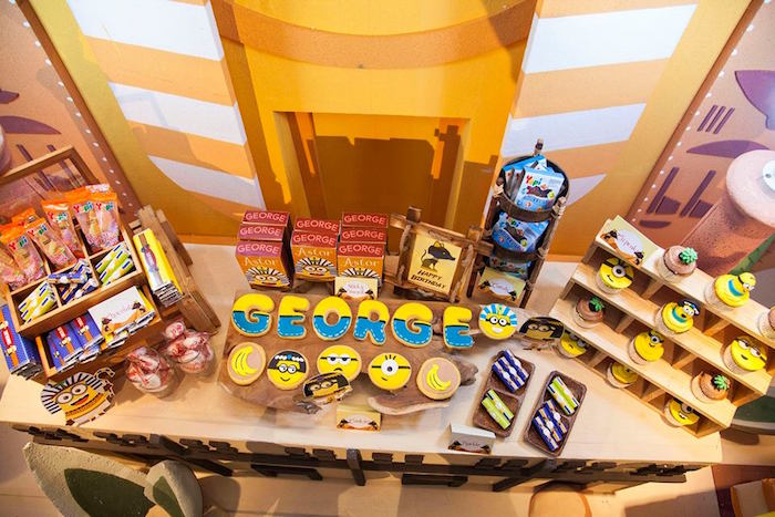 Sweet Tabletop from a Minions in Egypt Themed Birthday Party via Kara's Party Ideas | The Place for All Things Party! KarasPartyIdeas.com (16)