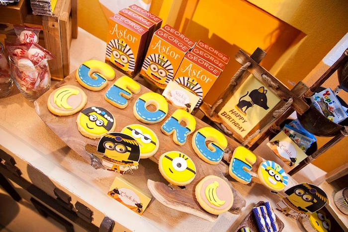 Cookies from a Minions in Egypt Themed Birthday Party via Kara's Party Ideas | The Place for All Things Party! KarasPartyIdeas.com (15)