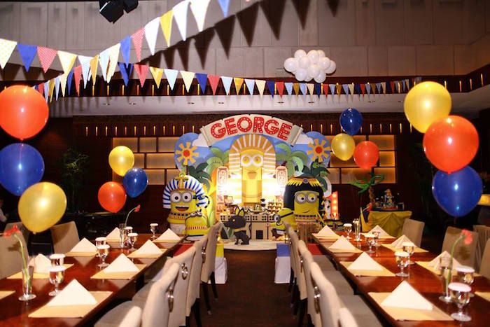 Partyscape from a Minions in Egypt Themed Birthday Party via Kara's Party Ideas | The Place for All Things Party! KarasPartyIdeas.com (33)