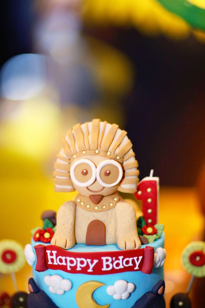 Minion Pharaoh Cake Topper from a Minions in Egypt Themed Birthday Party via Kara's Party Ideas | The Place for All Things Party! KarasPartyIdeas.com (10)