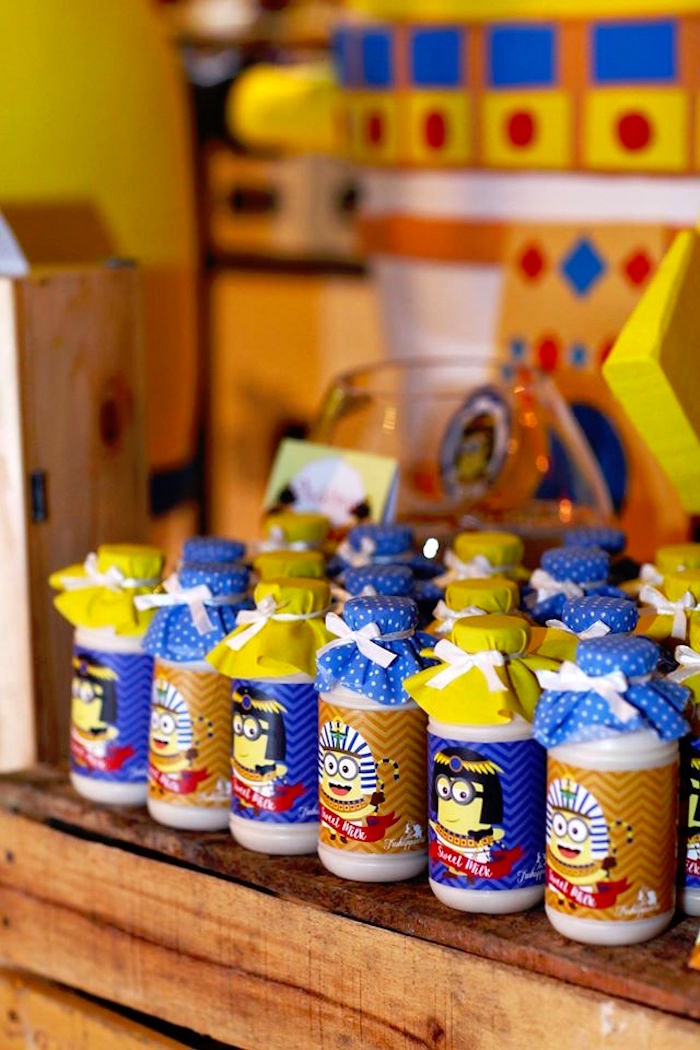 Drinks from a Minions in Egypt Themed Birthday Party via Kara's Party Ideas | The Place for All Things Party! KarasPartyIdeas.com (8)