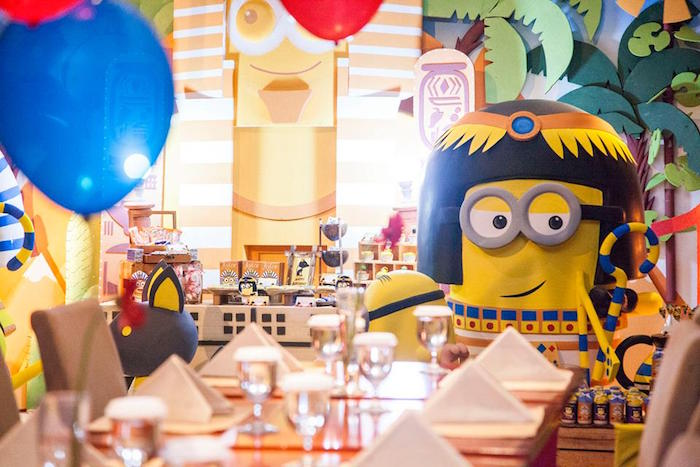 Details from a Minions in Egypt Themed Birthday Party via Kara's Party Ideas | The Place for All Things Party! KarasPartyIdeas.com (7)