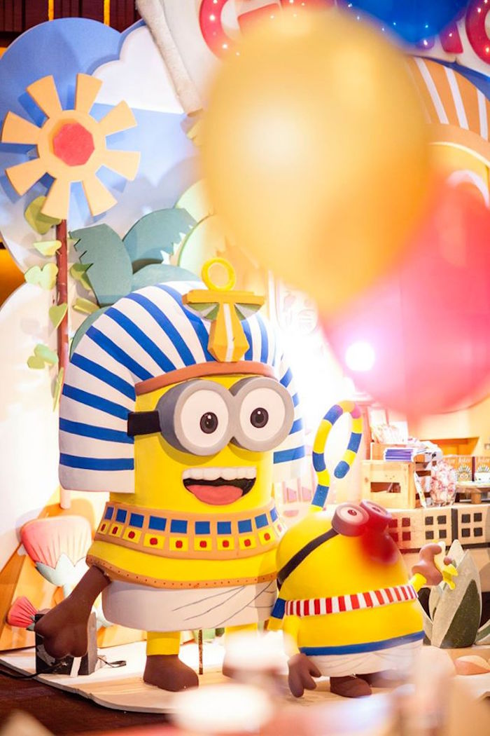 Minion Character Props from a Minions in Egypt Themed Birthday Party via Kara's Party Ideas | The Place for All Things Party! KarasPartyIdeas.com (6)