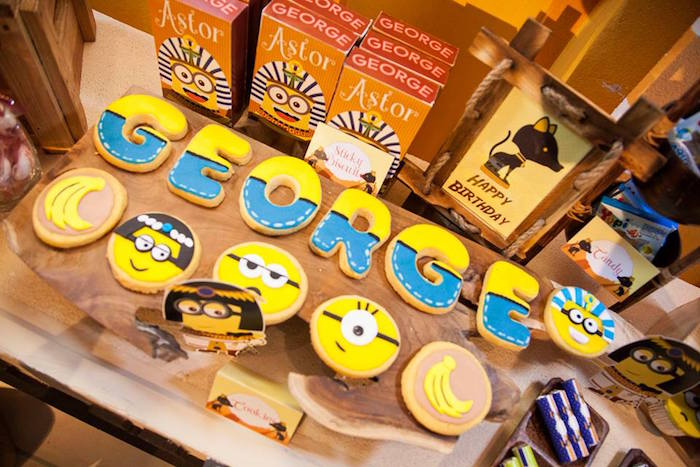Cookies from a Minions in Egypt Themed Birthday Party via Kara's Party Ideas | The Place for All Things Party! KarasPartyIdeas.com (32)