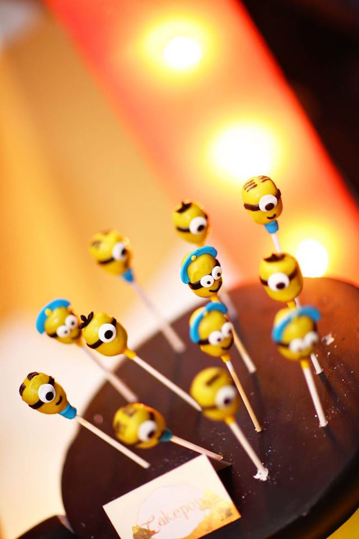Minion Cake Pops from a Minions in Egypt Themed Birthday Party via Kara's Party Ideas | The Place for All Things Party! KarasPartyIdeas.com (4)