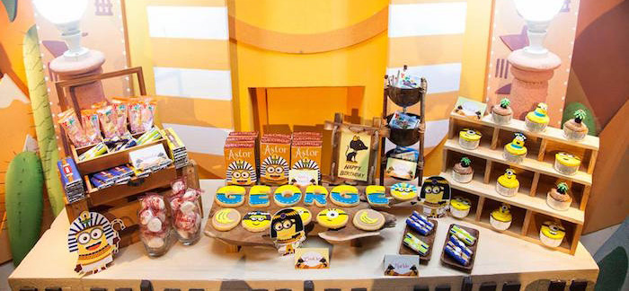 Dessert + Sweet Display from a Minions in Egypt Themed Birthday Party via Kara's Party Ideas | The Place for All Things Party! KarasPartyIdeas.com (3)