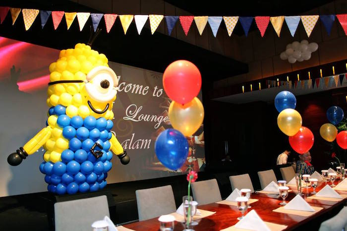 Party Stage + Balloon Minion Creation from a Minions in Egypt Themed Birthday Party via Kara's Party Ideas | The Place for All Things Party! KarasPartyIdeas.com (30)