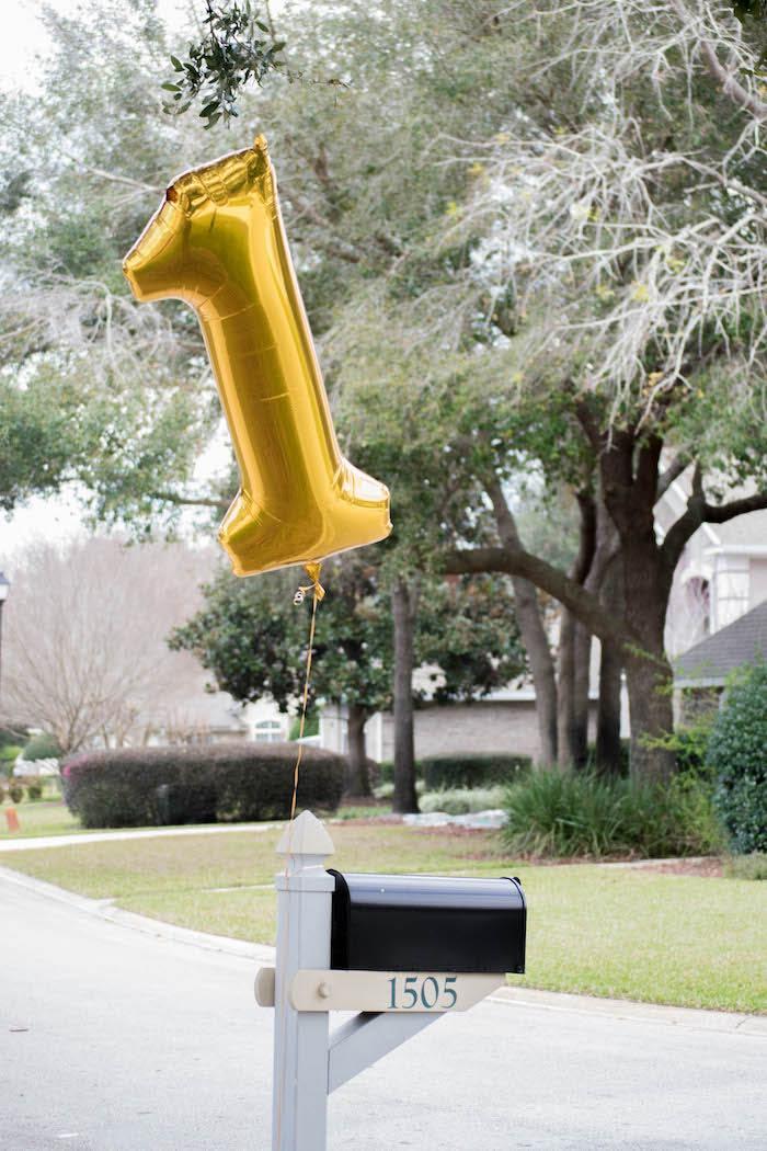Entrance + Mailbox from a Mint, Pink + Gold Birthday Party via Kara's Party Ideas KarasPartyIdeas.com (33)