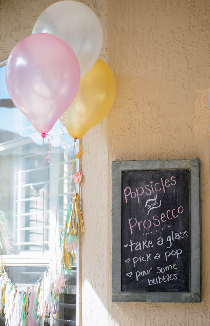 Decor from a Mint, Pink + Gold Birthday Party via Kara's Party Ideas KarasPartyIdeas.com (23)