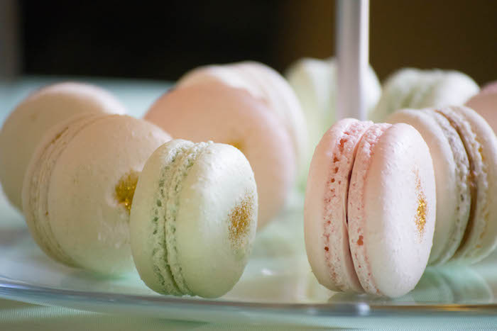 Macarons from a Mint, Pink + Gold Birthday Party via Kara's Party Ideas KarasPartyIdeas.com (15)