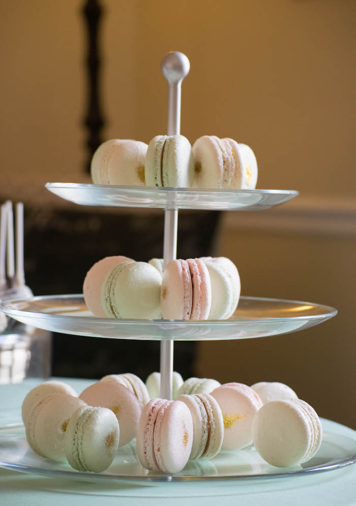 Macarons from a Mint, Pink + Gold Birthday Party via Kara's Party Ideas KarasPartyIdeas.com (14)