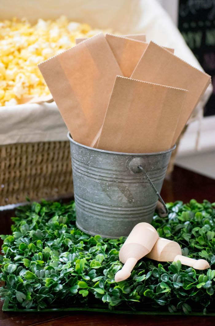 Popcorn Bar Sacks from a Mint, Pink + Gold Birthday Party via Kara's Party Ideas KarasPartyIdeas.com (3)