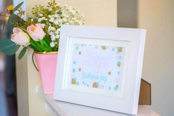 Stationery Sign + Decor from a Mint, Pink + Gold Birthday Party via Kara's Party Ideas KarasPartyIdeas.com (50)