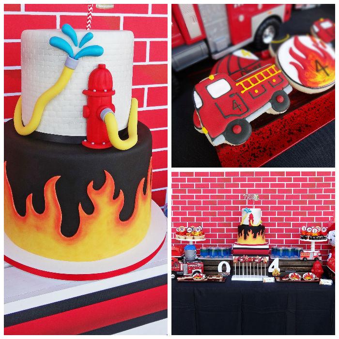 Kara's Party Ideas Modern Firefighter Birthday Party