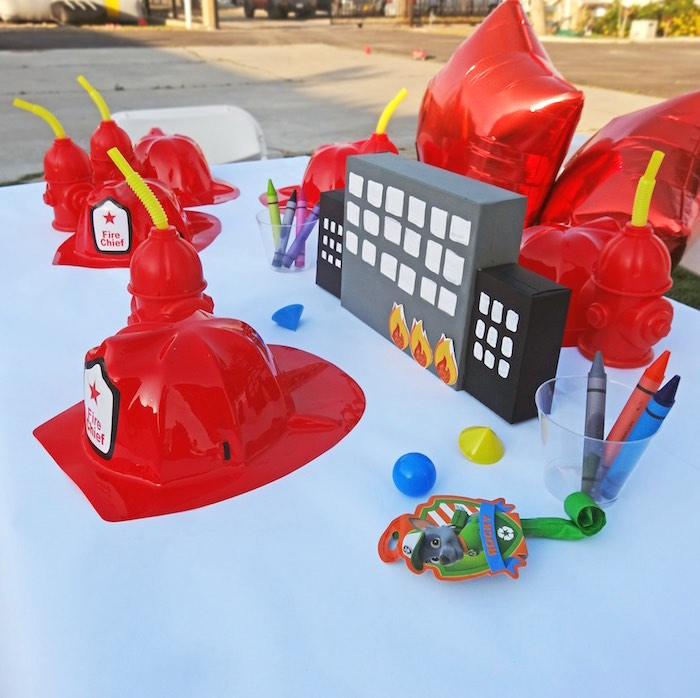 KidsTablescape from a Modern Firefighter Birthday Party via Kara's Party Ideas | KarasPartyIdeas.com (11)