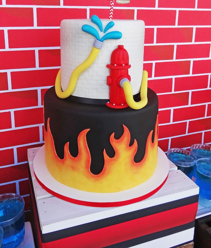 Kara's Party Ideas Modern Firefighter Birthday Party