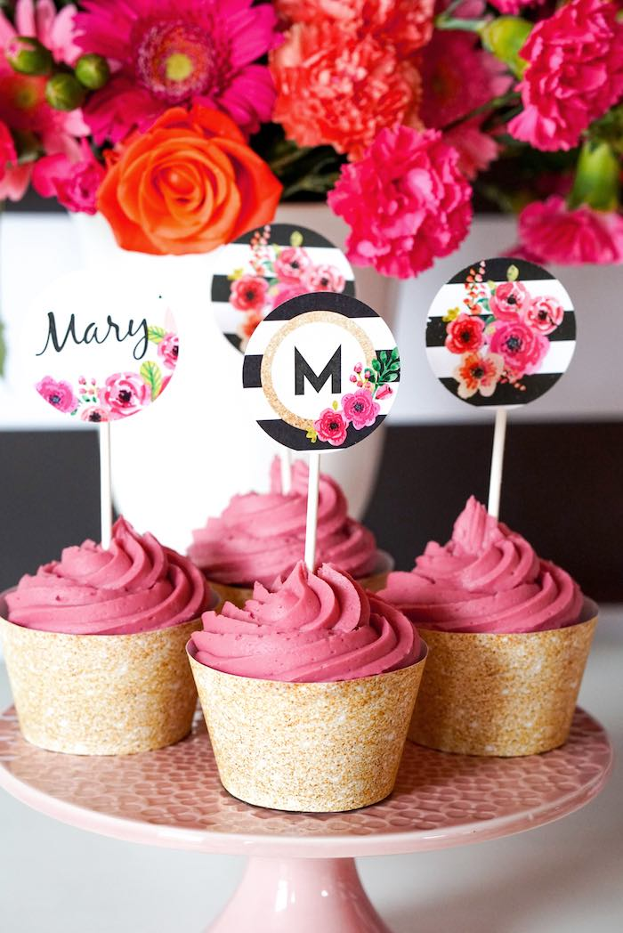 Kara S Party Ideas Modern Floral Graduation Party Kara S