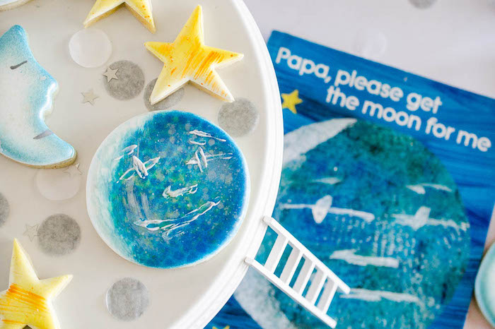 Details + Cookies from a Moon Inspired Birthday Party via Kara's Party Ideas KarasPartyIdeas.com (5)