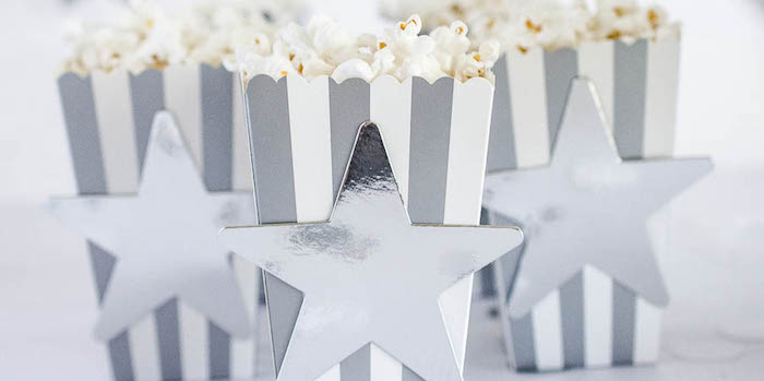 Popcorn Boxes from a Moon Inspired Birthday Party via Kara's Party Ideas KarasPartyIdeas.com (1)