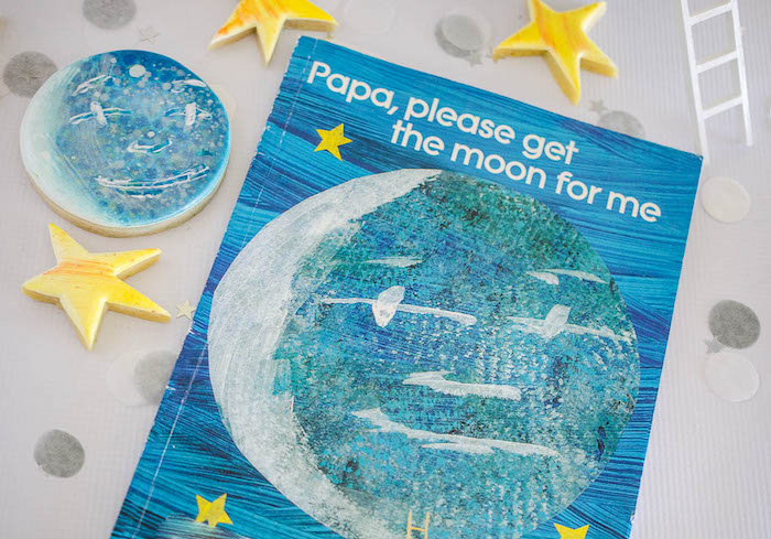 Papa, please get the moon for me, childrens storybook from a Moon Inspired Birthday Party via Kara's Party Ideas KarasPartyIdeas.com (14)