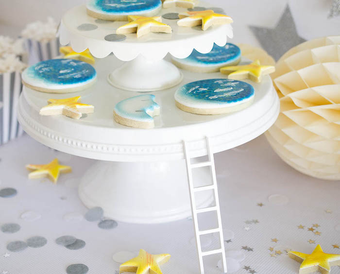 Cookie Stand from a Moon Inspired Birthday Party via Kara's Party Ideas KarasPartyIdeas.com (11)
