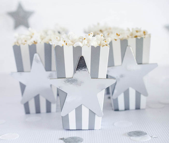 Popcorn Boxes from a Moon Inspired Birthday Party via Kara's Party Ideas KarasPartyIdeas.com (6)