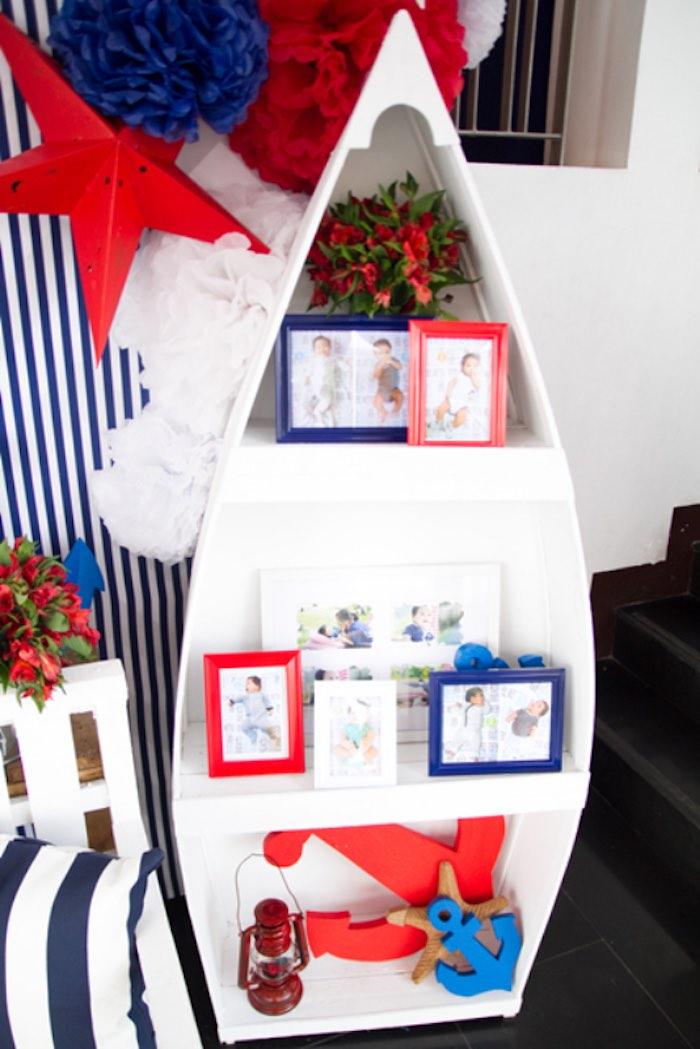 Kara\'s Party Ideas Red White + Blue Nautical Birthday Party | Kara\'s ...