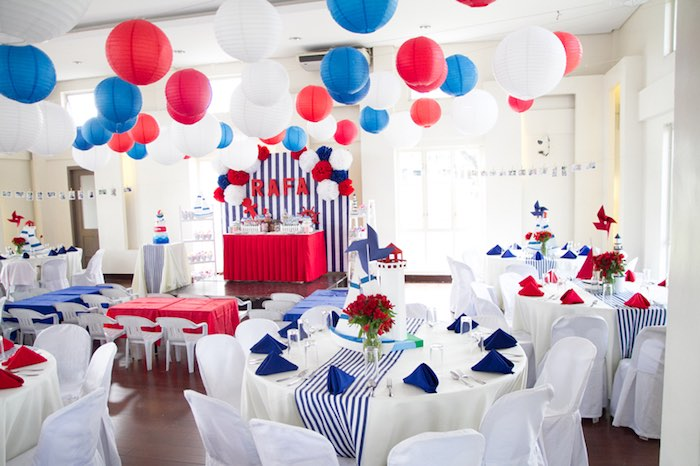 Karas Party Ideas Red White Blue Nautical Birthday Party Karas