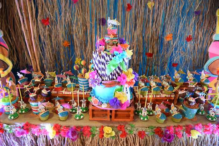 Cake + Sweets from an Olaf's Tropical Summer Birthday Party via Kara's Party Ideas | KarasPartyIdeas.com | The Place for All Things Party! (18)