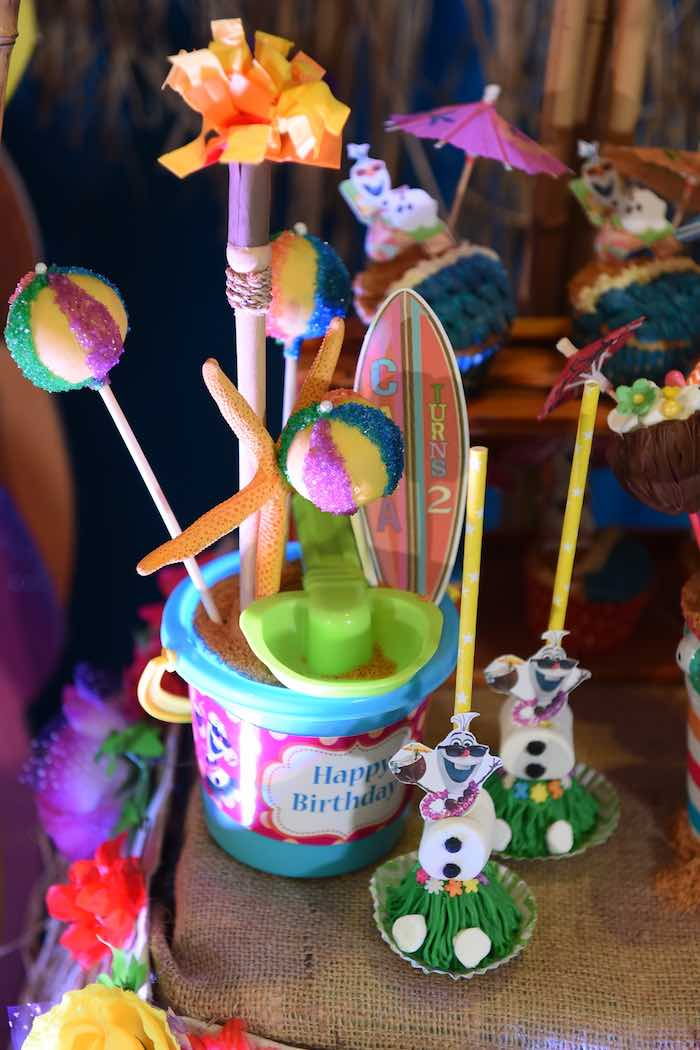 Sweets from an Olaf's Tropical Summer Birthday Party via Kara's Party Ideas | KarasPartyIdeas.com | The Place for All Things Party! (16)