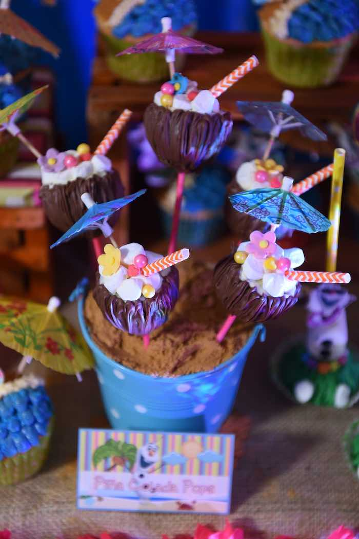 Pina Colada Pops from an Olaf's Tropical Summer Birthday Party via Kara's Party Ideas | KarasPartyIdeas.com | The Place for All Things Party! (13)