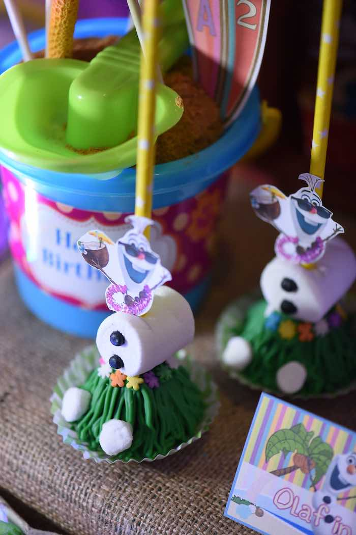 Olaf Sweets from an Olaf's Tropical Summer Birthday Party via Kara's Party Ideas | KarasPartyIdeas.com | The Place for All Things Party! (10)