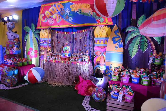Kara S Party Ideas Olaf S Tropical Summer Birthday Party