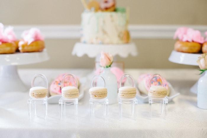 Macarons from a Pastel Art Themed Birthday Party via Kara's Party Ideas | KarasPartyIdeas.com (25)